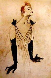 Yvette por Toulouse Lautrec