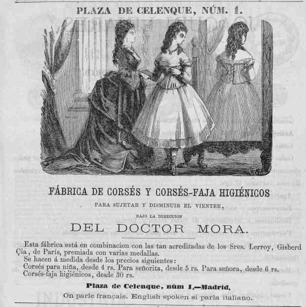 4. 1874. Anuncio de corsés -FOTO
