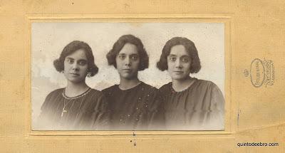 Julia, Rosa y Carmen Arilla Albar. Foto de Pilar Bernad Arilla.