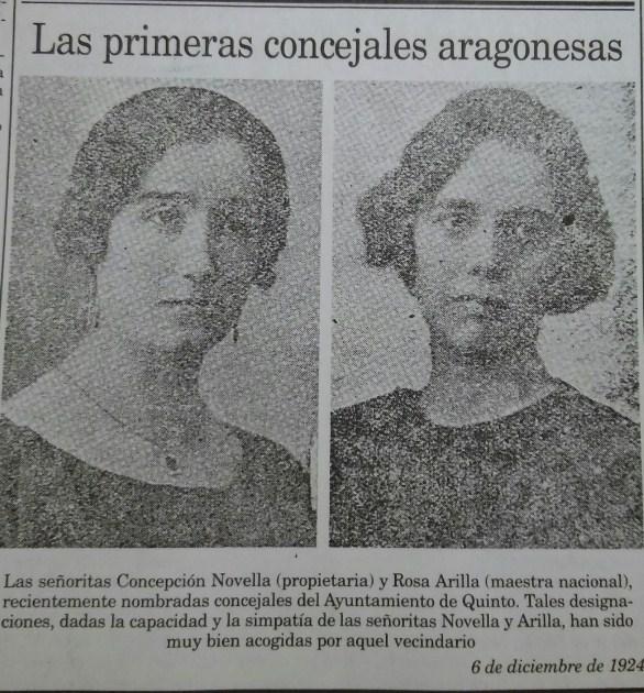 Primeras Concejalas aragonesas