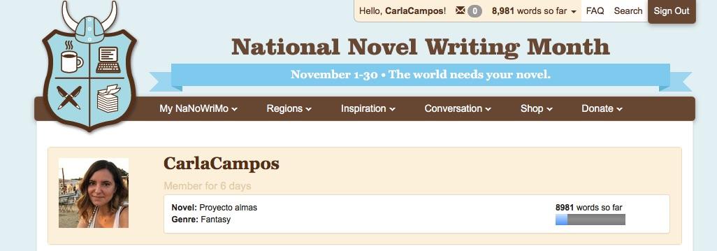 National_Novel_Writing_Month Letras desde Mocade