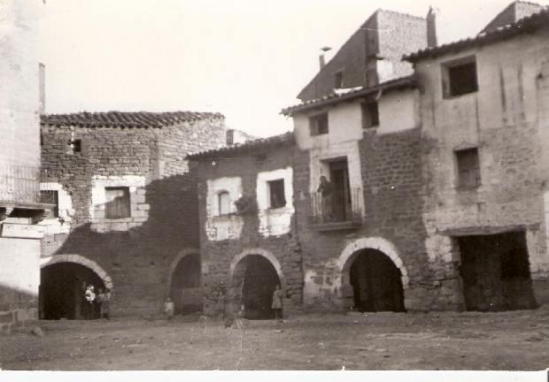 Plaza del Mercado Uncastillo. Años 30