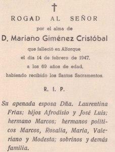 Recordartorio Mariano, su Marido