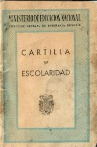 Cartilla de escolaridad de Antonio Huigueras