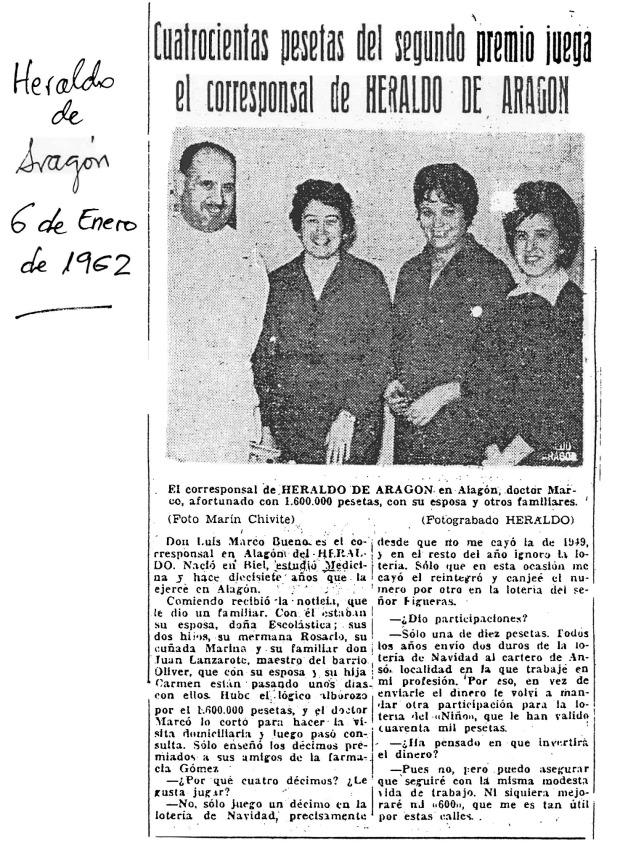 12. Luis Marco Bueno 1962 el 6 de Enero Lotería_2