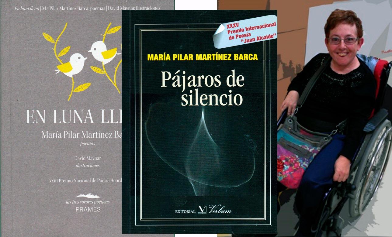 Pilar y sus nuevos libros.